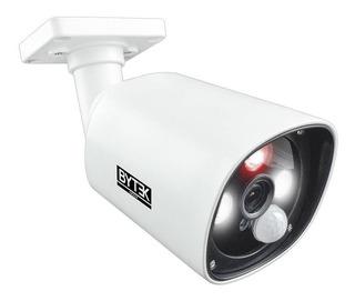 Camara Metalica 2.0 Mp 1080p Con Alarma Luz Led Blanca Cctv