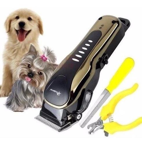 Maquina Para Motilar Perros Inalámbrica Kit 10 En 1 Gm 6063