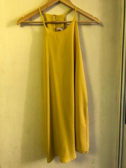 Vestido Musculoso Amarillo Mostaza A Estrenar