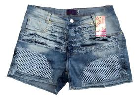 Roupas Femininas Shorts Jeans Plus Size Cintura Alta