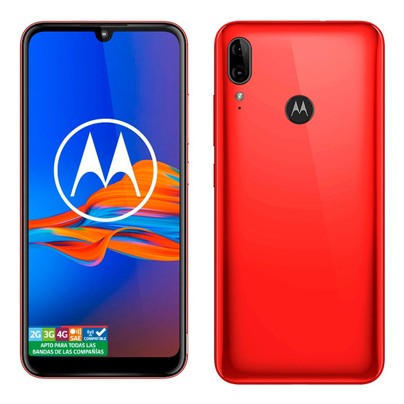 Motorola E6 Plus Cherry Red 32gb Rom 2gb Ram
