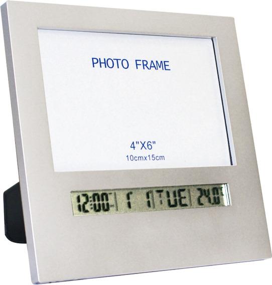 Porta Retrato Com Data E Hora Prata Incoterm