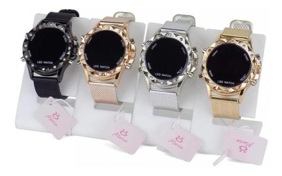 Promoção 4 Relógios Feminino Led Digital Atacado Original