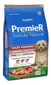 Ração Premier Seleção Natural Cães Raças Pequ Frang Bata 10k