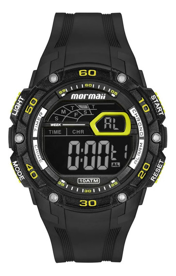 Relógio Masculino Digital Preto E Verde Mormaii Wave + Nf