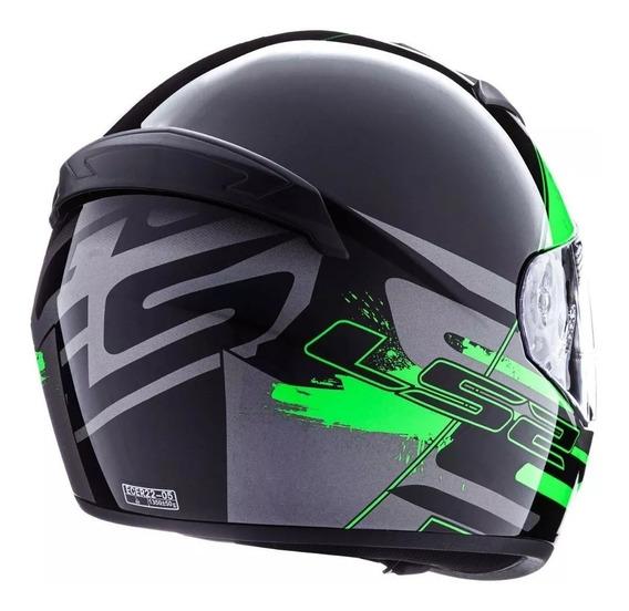 Casco Integral Moto Ls2 Ff 352 Rookie Combat Verde Yuhmak