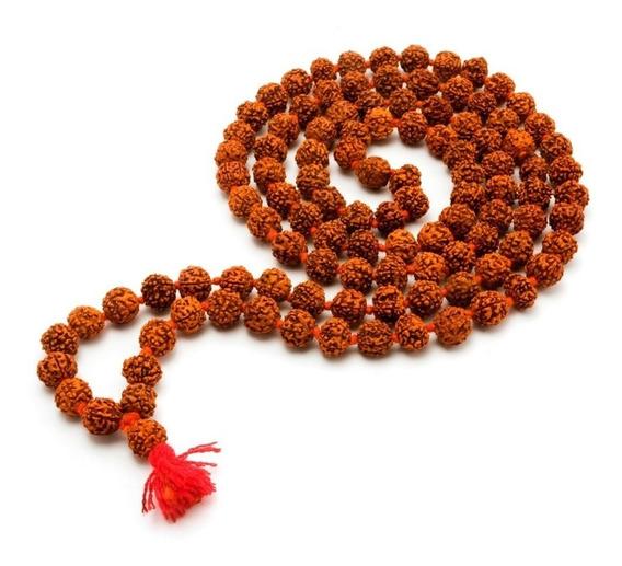 Japamala Terço Hoponopono Mantra Sementes Rudraska 108 Cts