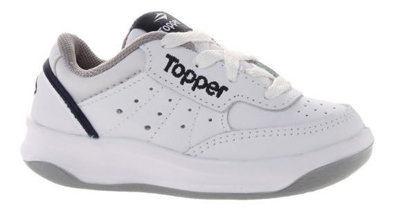 Zapatillas Topper X Force Kids Tenis Colegial Cuero Vacuno