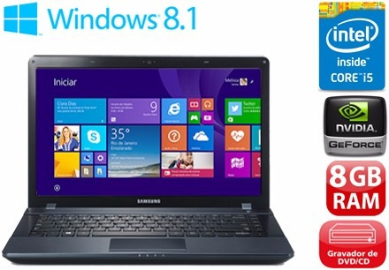 Notebook Samsung Ativ Book 2 I5 8gb 1tb Geforce 710m