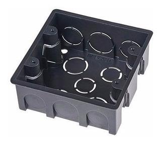 Caixa Plastica 4x4 Tomada Luz Preta Mondiale 4 Unidades