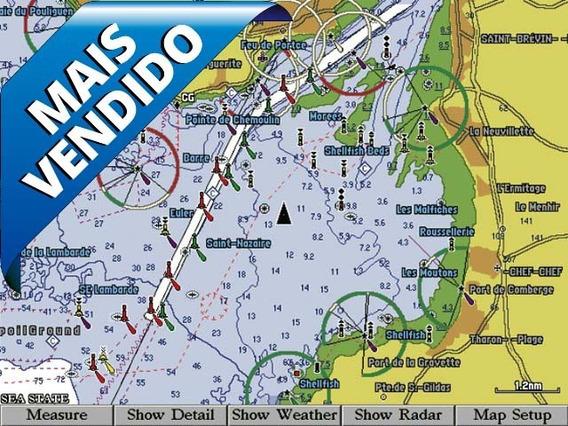 Carta Nautica Bluechart G2 Vision Digital 3d Garmin Brasil !