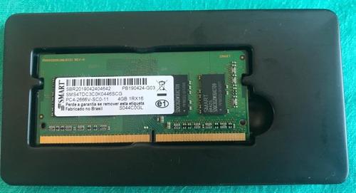 Imagem 1 de 2 de Memória Ram 4gb Ddr4 2666mhz Para Notebook - Smart