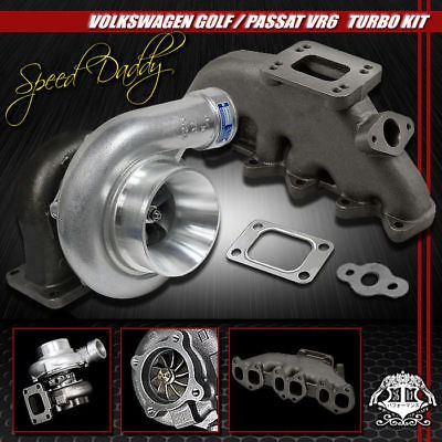 Gt35 Float Tenedor Turbocharger + Cast Turbo Manifold 92-05