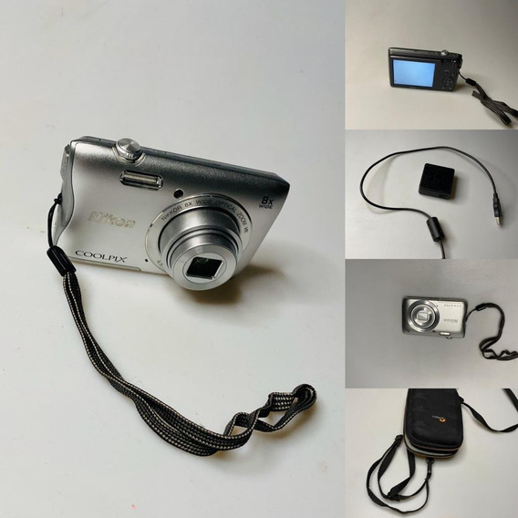 Camera Digital Nikon Coolpix S3700 Com Lowepro Frontal