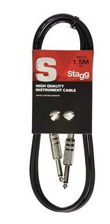 Cable Plug Plug Standard 1,5 Metros Stagg Sgc1,5 Envio