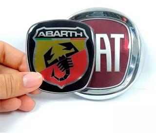 Kit Emblemas Resinado Punto 08/16 Abarth Diant Tras Volante