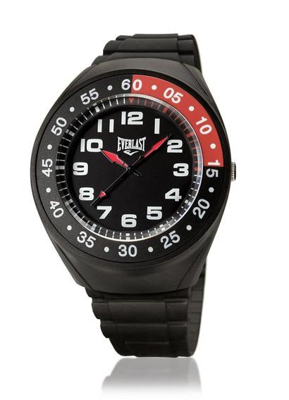 Relógio Masculino Caixa E Pulseira Pu Everlast E3001