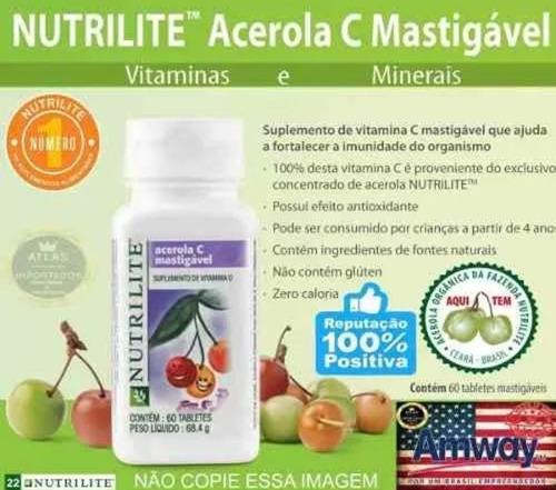 Vitamina C Acerola Mastigável Nutrilite Antioxidante Amway Mercado Livre