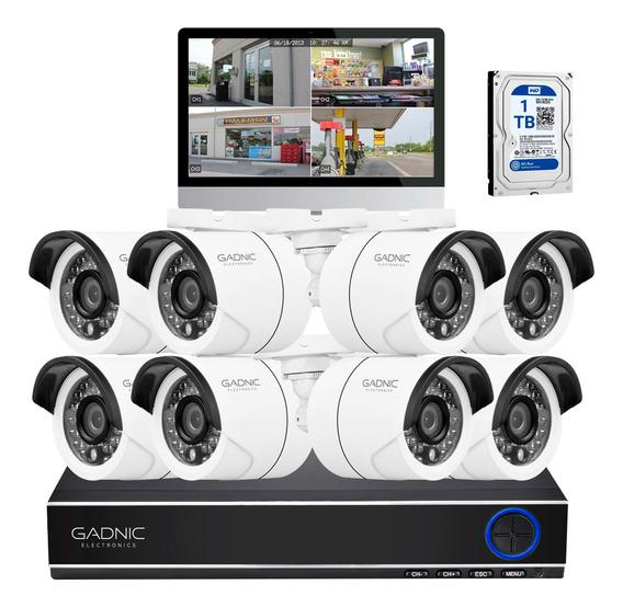 Kit Camaras Seguridad Ip Dvr 8ch + Camaras Ir + Disco 1tb