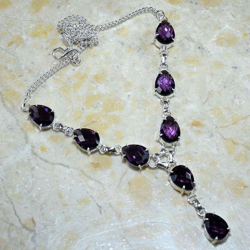 1acrgemas R$$$$ 75 Lindo Colar Obsidianas Purpura 27g