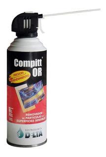 Aire Comprimido Removedor De Particulas - Grande 450g 440cc - Con Gatillo - Compitt Or - Delta