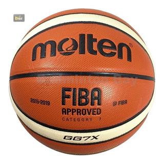 Pelota Basket Basquet Cuero N°7 Molten Gg7x Envío Gratis
