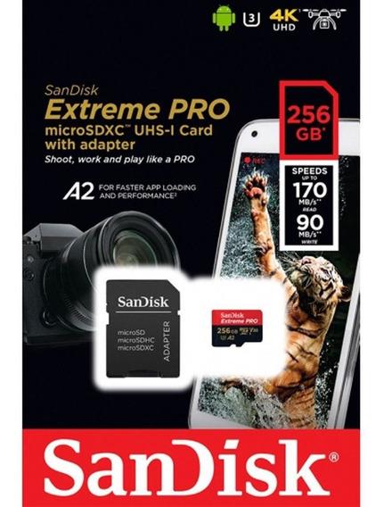 Microsdxc 256gb Sandisk Extreme Pro 170mb/s 4k C/ Adaptador