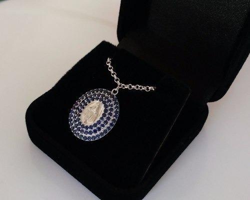 Pulseira Feminina Medalha Nossa Senhora Das Graças Prata 925