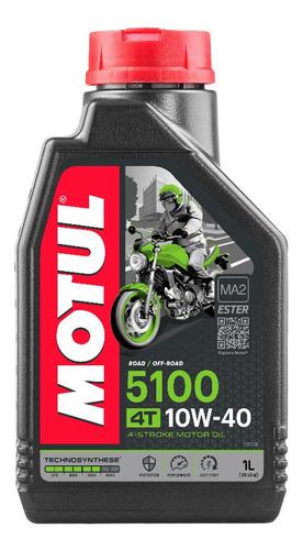 Imagen 1 de 3 de Aceite Moto 10w40 5100 Semisintetico Motul 1lt