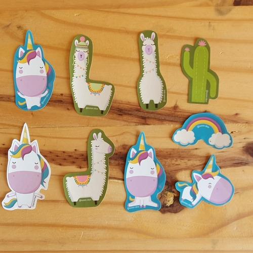 Imagen 1 de 1 de Pack De 22 Stickers - Llamas - Unicornios