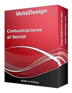 Planilla En Word Modelo Comunicaciones Al Seniat