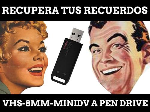 Vhs A Dvd O Pen Drive Retiro Y Entrega De Material Sin Cargo