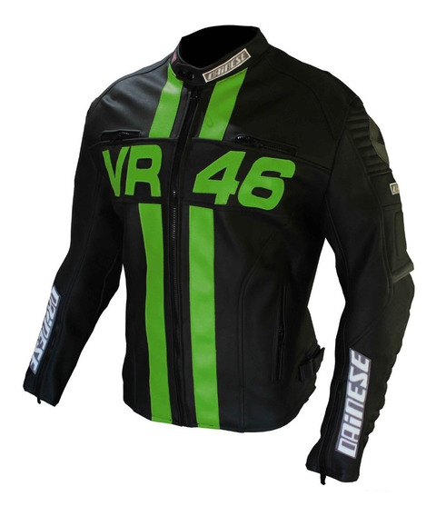 Campera Cuero Eco Valentino Rossi Con Protecciones Vr46
