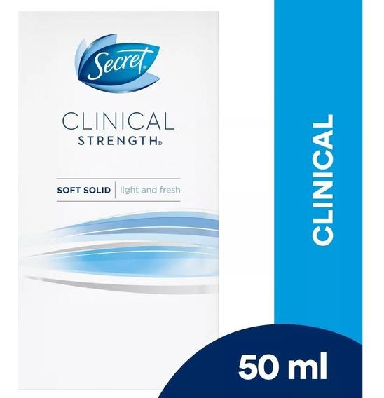 Desodorante Secret Clinical Light Fresh - Pack X2