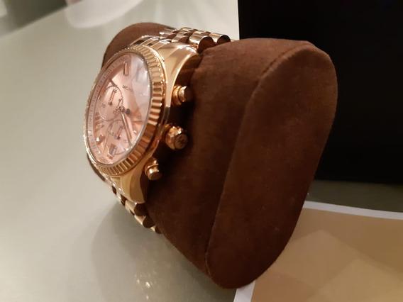 Relógio Michael Kors Modelo 5138 Marrom Dourado
