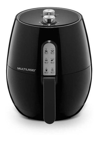 Fritadeira sem óleo Multilaser Air Fryer 3.5 L Gourmet preta 110V