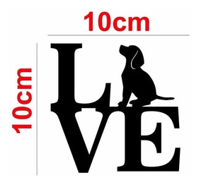 Adesivo Love Beagle Dog Cachorro Para Carro Notebook