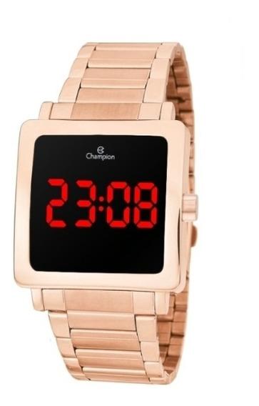 Relógio Champion Digital Rosê Quadrado Unissex Ch40197z
