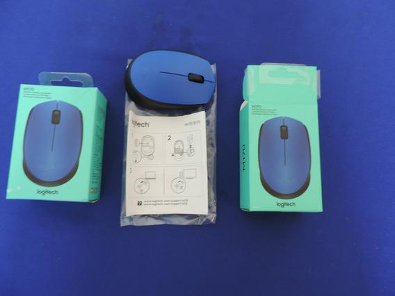 Mouse Sem Fio Logitech Azul M170 Wireless