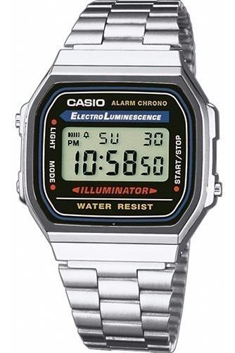 Relógio Casio Unissex Vintage A168wa 1wdf Prata Digital