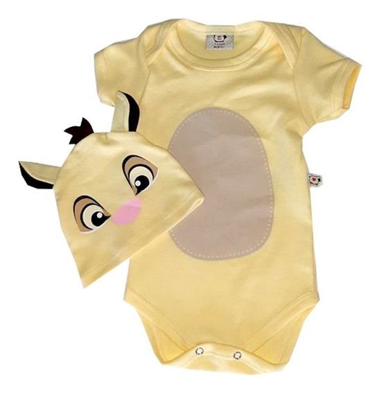 Body De Bebê Infantil Personagens Simba Rei Leão Milkfun