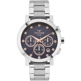 Relógio Technos Prateado Feminino Elegance Ladies Os2abj/1a