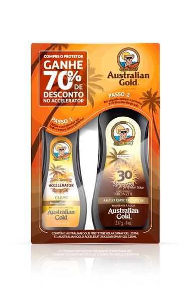 Kit Australian Gold Acelerador 125ml + Bronzeador 237ml