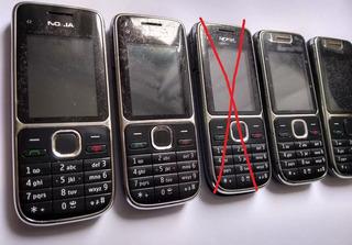 Kit 4 Und Celulares Nokia C2 - Usados