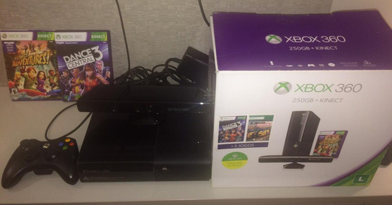 Xbox 360 Caixa + Skylanders + Star Wars Infinity + Fifa 18