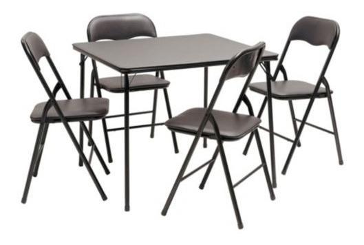 Mesa Ideal Dibujo + 4 Sillas Reforzadas Plegables Comedor