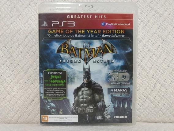 Jogo Ps3 Batman Asylum Mídia Física