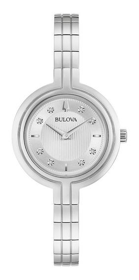 Relógio Feminino Bulova Rhapsody Aço Prata 96p214