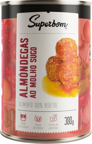 Almondegas Veganas Ao Sugo 400g - Superbom