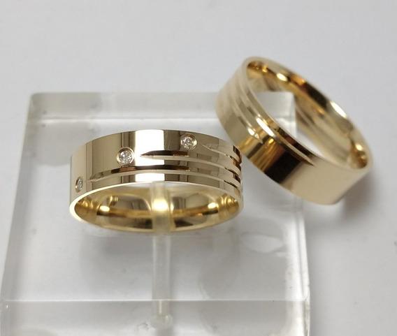 Aliança De Casamento Em Ouro 18 Kilates